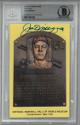 Joe DiMaggio signed New York Yankees HOF Plaque 3.5x5.5 Postcard- Beckett/BAS #00011491028 Slabbed