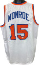Earl Monroe signed White TB Custom Stitched Pro Basketball Jersey- JSA Witnessed Hologram
