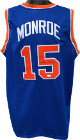 Earl Monroe signed Blue TB Custom Stitched Pro Basketball Jersey- JSA Witnessed Hologram