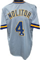 Paul Molitor signed Gray TB Custom Stitched Baseball Jersey XL- JSA Witnessed Hologram