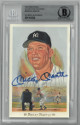 Mickey Mantle signed NY Yankees 1989 Perez Steele Celebration 3.5x5.5 HOF Postcard #28- Beckett/BAS #00011643302 Slabbed LTD