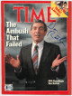 Dan Rather signed Time Full Magazine 2/8/1988- Beckett/BAS Hologram #Q75435