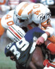 Bill Bates signed Tennessee Volunteers 8x10 Photo #40 minor dings (white jersey)