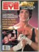 "Jerry Lawler signed Wrestling Eye Full Magazine March 1986 w/ ""King"" wear/bends-  JSA #AA38288"