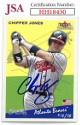 Chipper Jones signed Atlanta Braves 2002 Fleer Tradition Baseball Card #223- JSA Hologram #HH18430