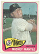 Mickey Mantle New York Yankees 1965 Topps Baseball Card #350 (ex mt-centered)