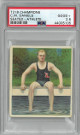C.M. Daniels 1910 T218 Champions Mecca Tobacco Card- PSA Graded 2.5 Good+ (Seated/Athlete/Swimming/Olympics)