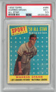 Warren Spahn 1958 Topps All Star Baseball Card #494- PSA Graded 5.5 Excellent+ (Milwaukee Braves)