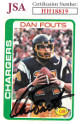 Dan Fouts signed San Diego Chargers 1978 Topps Card #499- JSA Hologram #HH18819