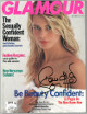 Claudia Schiffer signed Glamour Full Magazine January 1990- JSA #EE60266