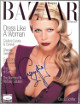 Claudia Schiffer signed Harper's Bazaar Full Magazine October 1994 very minor bleed- JSA #EE60264