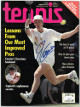 Jim Courier signed Tennis Full Magazine January 1992- JSA #EE63335 (no label)