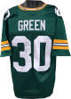 Ahman Green signed Green Custom Stitched Pro Style Football Jersey XL- JSA Witnessed Hologram