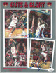 Larry Johnson & Stacey Augmon dual signed UNLV 1990-91 Media Guide- JSA #EE60461 (89-90 National Champs)