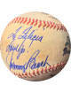 Johnny Bench signed Wilson Braves Logo Baseball toned To Felicia Love Ya- JSA #II11015