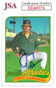Tony La Russa signed 1989 Topps Baseball Card #224- JSA #EE60374 (Oakland Athletics)