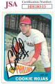 Cookie Rojas signed 1965 Topps Baseball Card #474- JSA #HH18515 (Philadelphia Phillies)