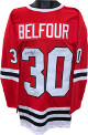 Ed Belfour signed Red TB Custom Stitched Hockey Jersey #30 XL- JSA Witnessed
