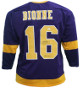Marcel Dionne signed Los Angeles Pro Style Hockey Purple Jersey HOF 92- JSA Witnessed
