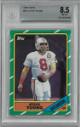 Steve Young 1986 Topps Football Rookie Card (RC) #374- Beckett Graded 8.5 Near Mint-Mint+ (Tampa Bay Buccaneers)