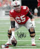 Pat Elflein signed Ohio State Buckeyes 8X10 Photo #65 (vertical/red jersey)