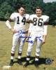 Dante Lavelli signed Cleveland Browns 8x10 Photo dual Gluefingers/HOF 1975