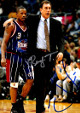 Rudy Tomjanovich & Steve Francis dual signed Houston Rockets 8x10 Photo imperfect