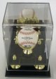 Baseball 1-Ball (Large) Deluxe Acrylic Gold Glove Display Case, Mirror back & Gold risers