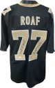 Willie Roaf signed Black Custom Stitched Pro Style Football Jersey XL #77 HOF 2012- JSA Witnessed