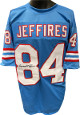 Haywood Jeffires signed Blue TB Custom Stitched Pro Style Football Jersey XL