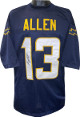 Keenan Allen signed Navy Custom Stitched Pro Style Football Jersey XL- JSA Witnessed