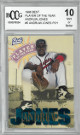 Andruw Jones 1996 Best Braves Minor League Player Of The Year Trading Card #5- Beckett BCCG Graded 10 Mint or Better