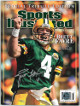Brett Favre signed 2008 Sports Illustrated Tribute Magazine (no label)- Favre 4 Hologram/Photo (Green Bay Packers)