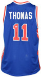 Isiah Thomas signed Detroit Blue Custom Stitched Pro Basketball Jersey XL- JSA Witnessed