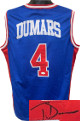Joe Dumars signed Detroit Blue Custom Stitched Basketball Jersey XL- JSA Witnessed