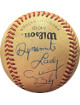 Allison Bly signed Official Wilson South Atlantic League Baseball tone spots w/ Dynamite Lady (Stuntwomen)