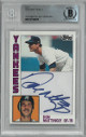 Don Mattingly signed 1984 Topps Rookie Card #8 Cut Signature- Beckett Encapsulated (New York Yankees)