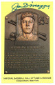 Joe DiMaggio signed New York Yankees HOF Plaque 3.5x5.5 Postcard- Beckett Review
