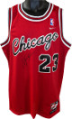 Michael Jordan signed Chicago Bulls 1984 Nike Flight 8403 Authentic Rookie Jersey- JSA LOA #BB95861 (Medium+ 2 Inch)