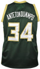 Giannis Antetokounmpo signed Milwaukee Green Custom Stitched Pro Basketball Jersey XL- JSA Witnessed