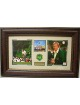 Jack Nicklaus 6 Time Masters Champ - 2 Photo Premium Leather Framing w/ Patch