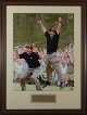 Phil Mickelson unsigned 2004 Masters Jump 2 pose 16X20 Custom Framing