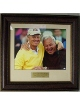 Arnold Palmer & Jack Nicklaus PGA Golf HOF 16x20 Photo Premium Leather Framing