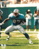 Eddie George unsigned Tennessee Oilers 8x10 Photo #27 (blue jersey front view)