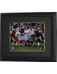 Eli Manning signed New York Giants Super Bowl XLII 8x10 Horizontal Photo Escape Custom Framed- Steiner Hologram