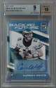 Carson Wentz signed Eagles 2017 Panini Donruss Elite Back to the Future Card #BTTF-CW- LTD 4/10- Beckett Graded 9 Mint- Auto 10