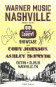 Ashley McBryde & Cody Johnson dual signed 2019 Warner Music Nashville Showcase 11x17 Poster/Print- JSA- iHeart Exit/In 1/29/19