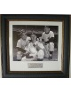 Yogi Berra NY Yankees 11X14 Vintage B&W Photo Premium Leather Framing w/ Whitey Ford & Mickey Mantle