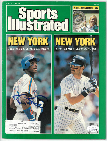 Darryl Strawberry signed New York Mets Sports Illustrated Magazine July 13, 1987- JSA Hologram #CC09152